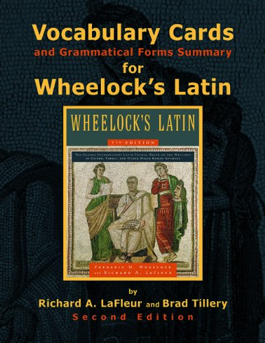 9780865167711: Vocabulary Cards and Grammatical Forms Summary for Wheelock's Latin