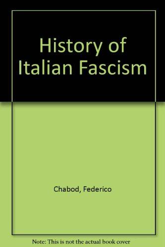 9780865270954: History of Italian Fascism