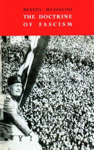 9780865274631: The Doctrine of Fascism