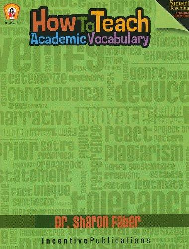 How To Teach Academic Vocabulary: Dr. Sharon Faber