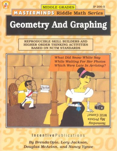 9780865303058: Masterminds Riddle Math for Middle Grades: Geometry and Graphing: Reproducible Skill Builders and Higher Order Thinking Activities Based on NCTM Standards