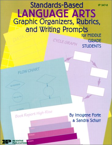 9780865304925: Standards-Based Language Arts: Graphic Organizers, Rubrics, and Writing Prompts for Middle Grade Students (Standards-based Graphic Organizers & Rub)