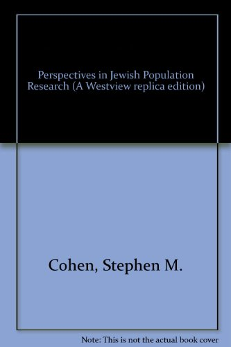 9780865318533: Perspectives In Jewish Population Research (Westview Replica Edition)