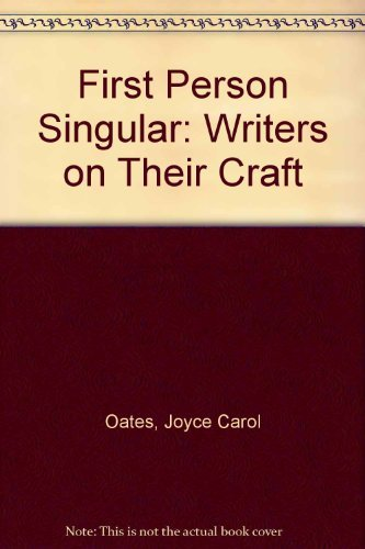 9780865380370: First Person Singular: Writers on Their Craft
