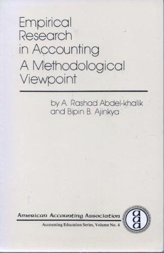 9780865390324: Empirical Research in Accounting: A Methodological Viewpoint