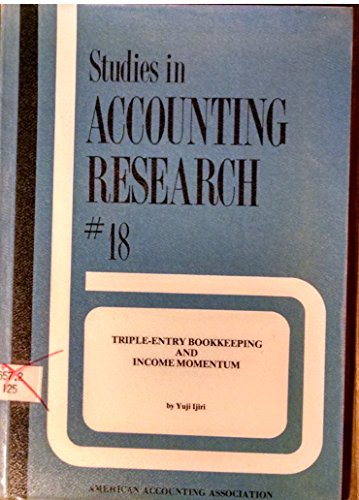 9780865390416: Triple-Entry Bookkeeping and Income Momentum (Studies in Accounting Research)