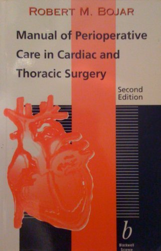 9780865423473: Manual of Perioperative Care in Cardiac and   Thoracic Surgery