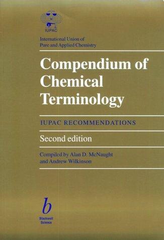 9780865426849: Compendium of Chemical Terminology: Gold Book (IUPAC Chemical Nomenclature)