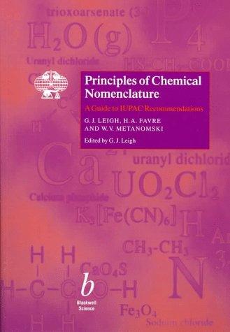 9780865426856: Principles of Chemical Nomenclature (BS - IUPAC Chem Nomenclat) (Bk. 2)