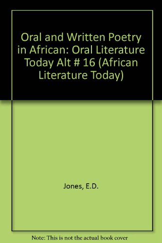 9780865431263: Oral and Written Poetry in African Literature Today