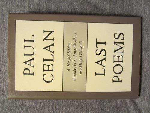 9780865472235: Last Poems (English and German Edition)