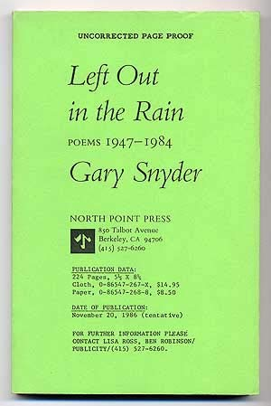 9780865472679: Left Out in the Rain: New Poems 1947-1985
