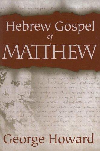9780865549890: Hebrew Gospel of Matthew
