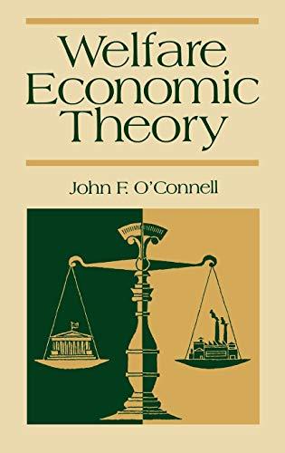 Welfare Economic Theory: John F. O'Connell