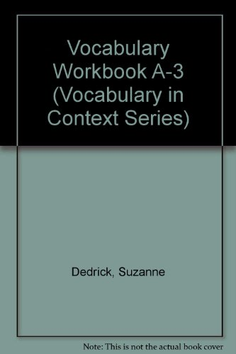 9780865751507: Vocabulary Workbook A-3 (Vocabulary in Context Series)