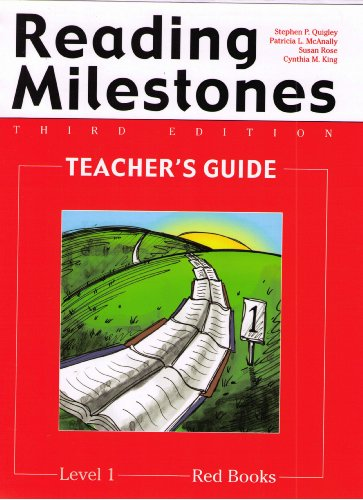 9780865757226: Reading Milestones: Teacher's Guide, Red Books, Level 1, 3rd Edition