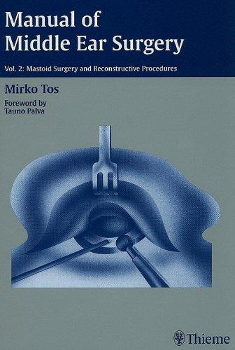 9780865775893: Manual ofMiddle Ear Surgery, Volume 2