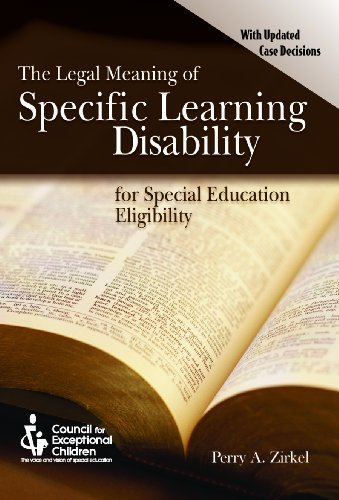 9780865864252: Legal Meaning of Specific Learning Disability for Special Education Eligibility