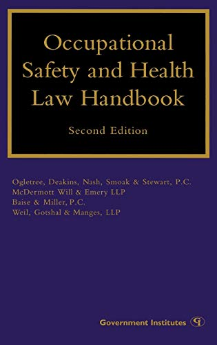 Occupational Safety and Health Law Handbook: Conn Eric