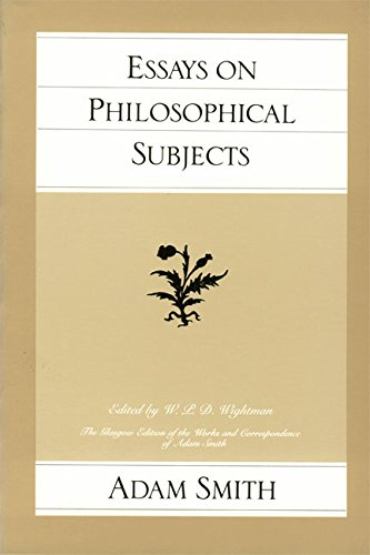 9780865970236: Essays on Philosophical Subjects (Glasgow Edition of the Works and Correspondence of Adam Smith)