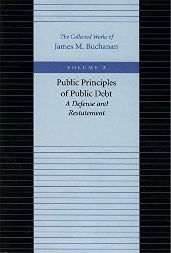 9780865972162: Public Principles of Public Debt (Collected Works of James M. Buchanan)