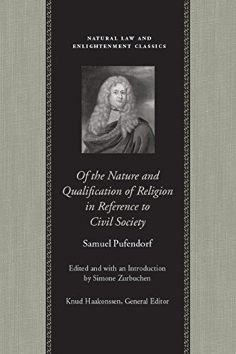 9780865973701: Of the Nature and Qualification of Religion in Reference to Civil Society (Natural Law & Enlightenment Classics)