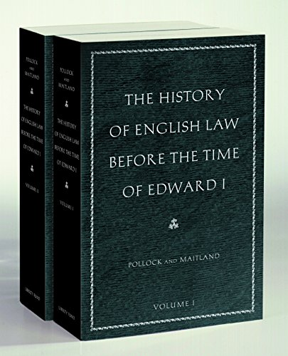9780865977495: The History of English Law before the Time of Edward I: In Two Volumes