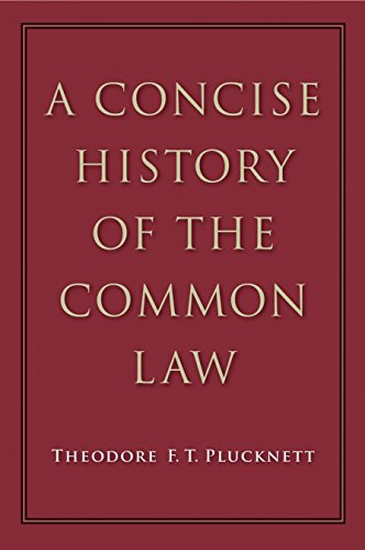 9780865978065: A Concise History of the Common Law