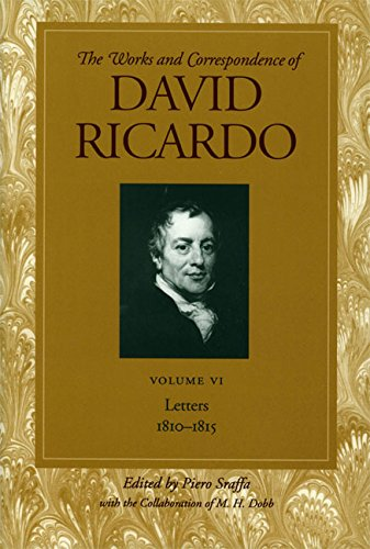 9780865979703: Letters 1810-1815: Volume 6 (Works and Correspondence of David Ricardo)