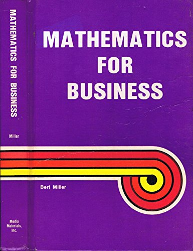 9780866015448: Mathematics for Business