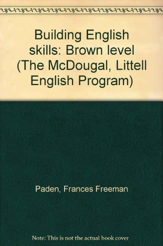 9780866090025: Building English skills: Brown level (The McDougal, Littell English Program)