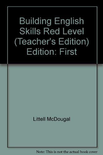 9780866090780: Building English Skills Red Level Teacher's Edition