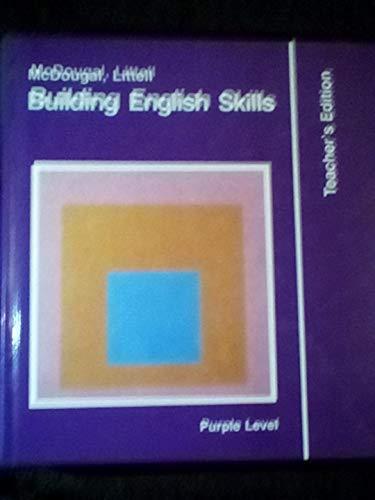 9780866093248: Building English Skills, Purple Level, Teacher's Edition