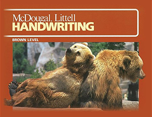McDougal School Handwriting: 31 3 Student Edition: HOUGHTON MIFFLIN