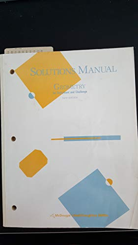 9780866099677: McDougal Littell Solutions Manual for Geometry for Enjoyment and Challenge, New Edition