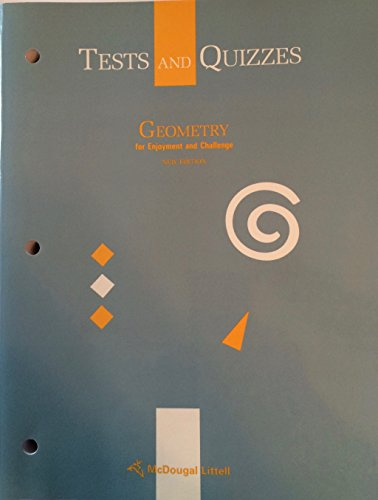 9780866099691: Geometry for enjoyment and challenge tests and quizzes