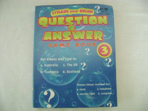 9780866117388: Strain Your Brain Questions & Answer Game Book