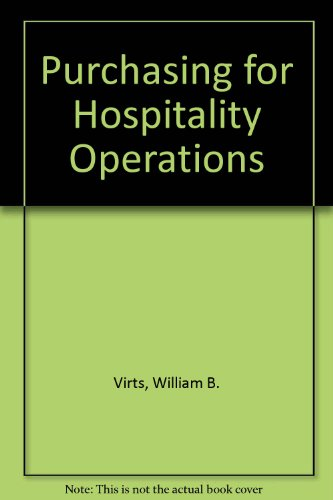 9780866120333: Purchasing for Hospitality Operations