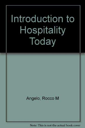 9780866120838: An Introduction to Hospitality Today