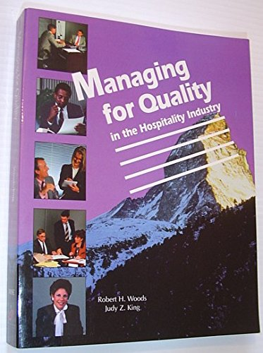 9780866120944: Managing for Quality in the Hospitality Industry