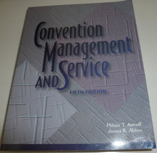 9780866121736: Convention Management and Service