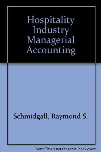 9780866122290: Hospitality Industry Managerial Accounting
