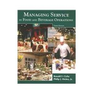 9780866122672: Managing Service in Food And Beverage Operations