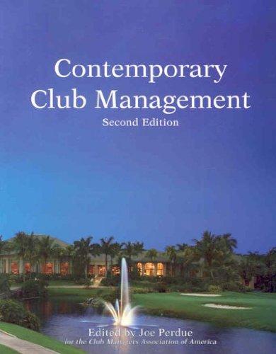 9780866122863: Contemporary Club Management