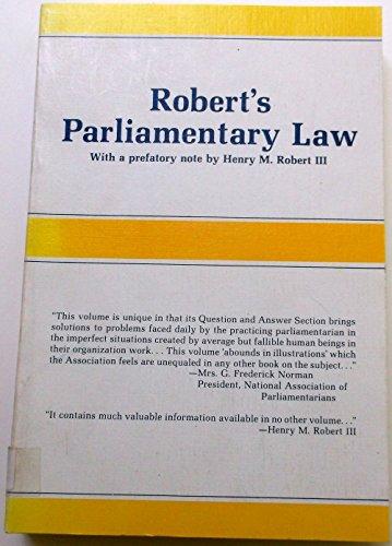 9780866160063: Robert's Parliamentary Rules of Order