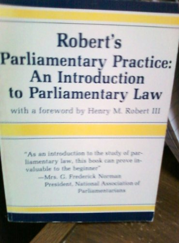 9780866160087: Robert's Parliamentary Rules of Order