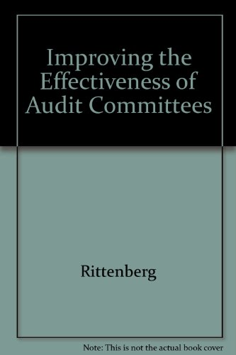 9780866412179: Improving the Effectiveness of Audit Committees (Research report publication)