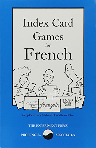 9780866470193: Index Card Games for French (Supplementary materials handbook)