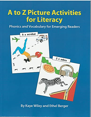 9780866473347: A to Z Picture Activities for Literacy: Phonics and Vocabulary for Emerging Readers