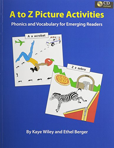 9780866473392: A to Z Picture Activities for Literacy: Phonics and Vocabulary for Emerging Readers: Text/CD